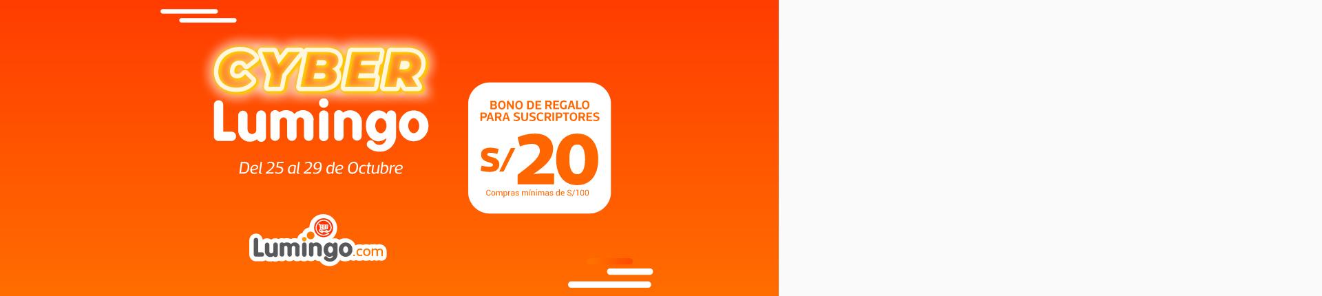 CYBER LUMINGO | BONO DE S/20 - Club El Comercio Perú.