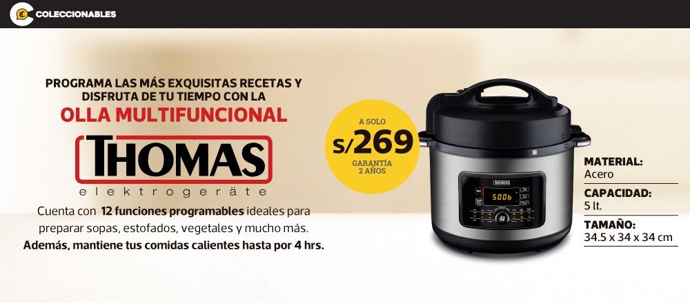 OLLA MULTIFUNCIONAL THOMAS - CLUB DE SUSCRIPTORES - Club De Suscriptores El Comercio Perú.