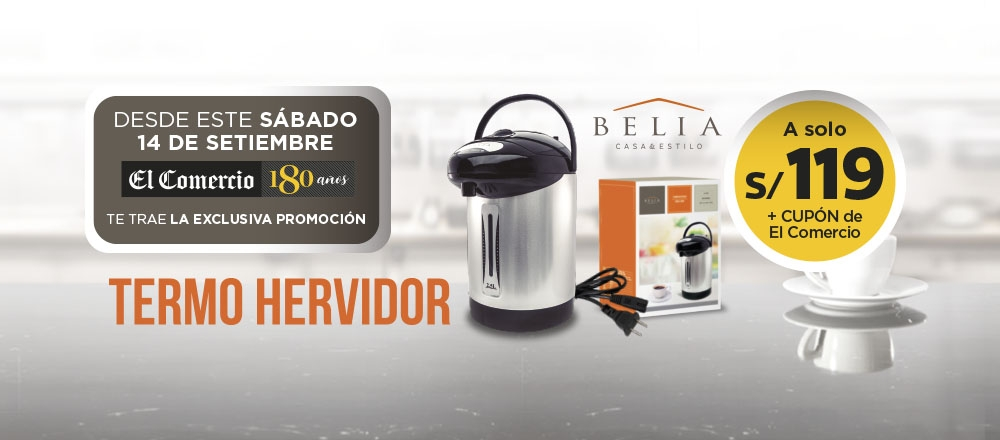TERMO HERVIDOR BELIA - CLUB DE SUSCRIPTORES - Club De Suscriptores El Comercio Perú.