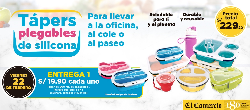 Tápers plegable de silicona - CLUB DE SUSCRIPTORES - Club De Suscriptores El Comercio Perú.