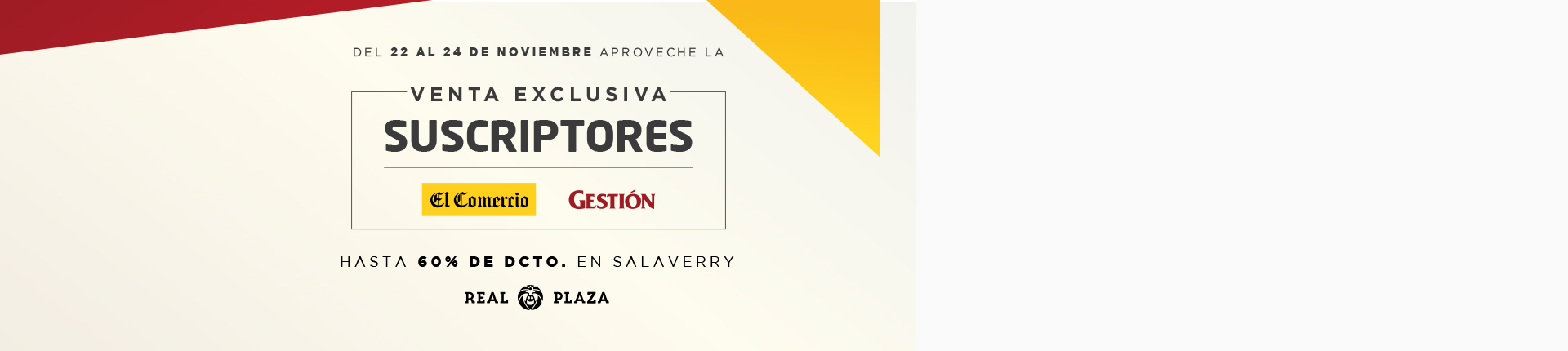 VENTA EXCLUSIVA SUSCRIPTORES - Club El Comercio Perú.